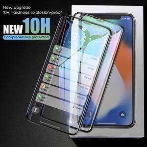 Image 1 - YOYIC 9D 炭素繊維フレーム Iphone 6 7 8 プラススクリーンプロテクター強化 iphone に × XS XR Xs 最大ガラス