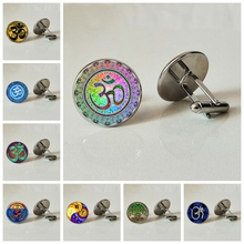 3D Yoga Glass cufflinks Classical Handmade Family Photo Private Customized Gift Modern cufflink