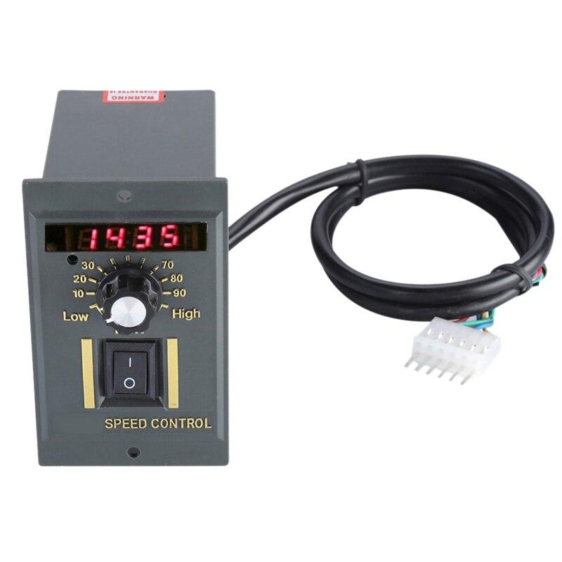Ac 220V Motor Speed Controller 50Hz 250W Digital Adjustable Stepless Plc Motor Speed Controller 0-1450Rpm Speed Regulator
