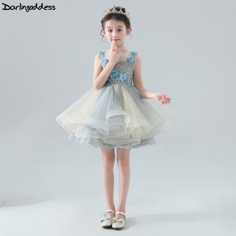 2019 New   Flower     Girl     Dresses   for Weddings Ball Gown Pageant   Dresses   for   Girls   Vestidos Primera Comunion Kids Evening Prom   Dress