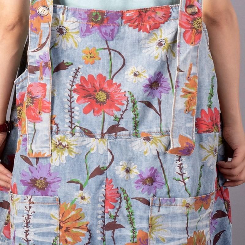 Printemps 2019 Combinaisons Longue Printed Denim Imprimer Aa828 Toute Asymmetricl ewq Longueur Pants Patchwork Femmes Décontracté Mode La Lâche Nouveau Poches 1ZEqgwx5