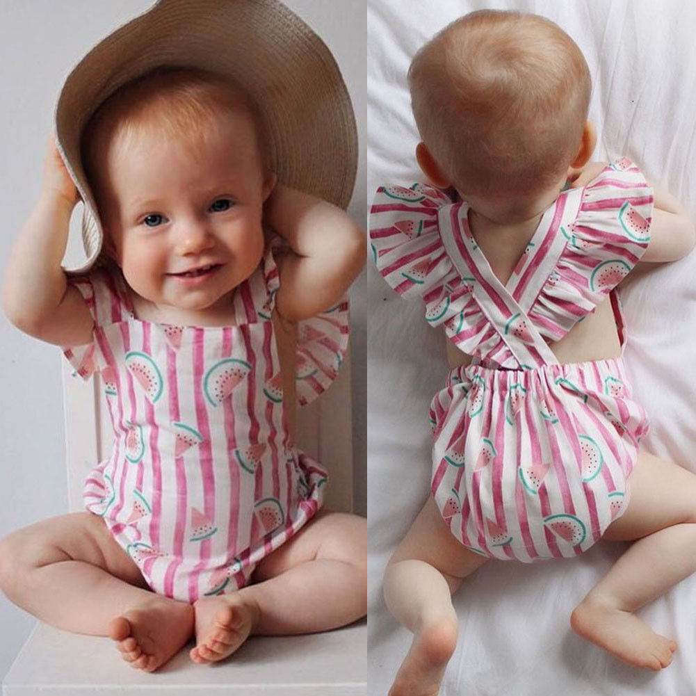 Pudcoco Girl Jumpsuits 0-24M USA Seller Newborn Infant Baby Girls Rompers Clothes Playsuit Jumpsuit