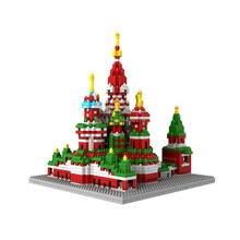 hot LegoINGlys creators city Street view Saint Basils moscow RU micro diamond building block model brick toys for children gift