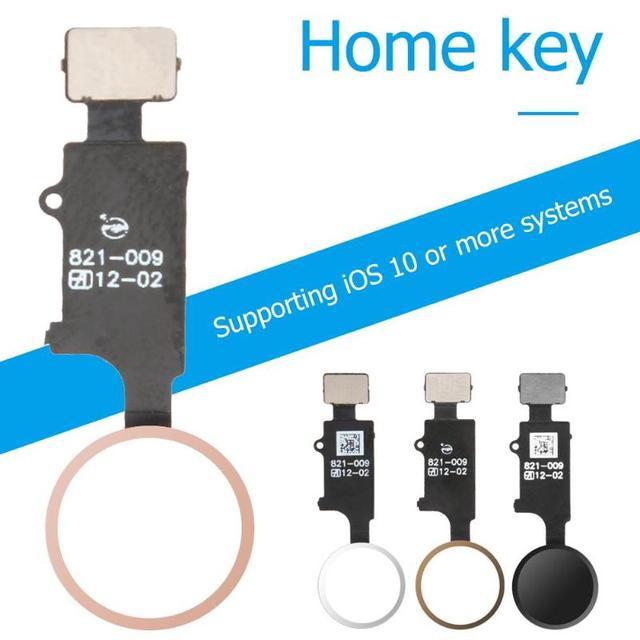 reputable site 336e7 283d7 Botón del hogar Flex Cable para iPhone 7/7 Plus/8/8 Plus No Touch ID de  inicio reemplazo piezas Apple IPhone