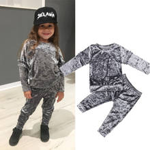 UK Toddler Kids Baby Girl Infant Clothes T-shirt Top Pants Outfit Sets Tracksuit(China)