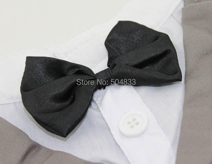Собачий костюм Tudexo Pets Свадебная вечеринка формальная одежда с бабочкой white белый черный серый
