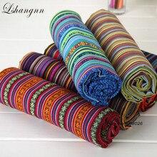 Lshangnn 100X150CM Polyester/Cotton Fabric Ethnic Decorative Fabrics For Sofa Cover Cushion Cloths Curtains 37 Styles Free ship