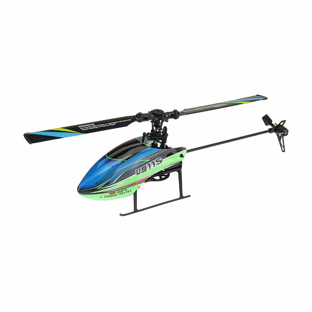 LeadingStar WLtoys V911S 2.4G 4CH 6-Aixs Gyro Flybarless RC Helicopter BNF fx070c 2 4g 4ch 6 axis gyro flybarless md500 scale rc helicopter