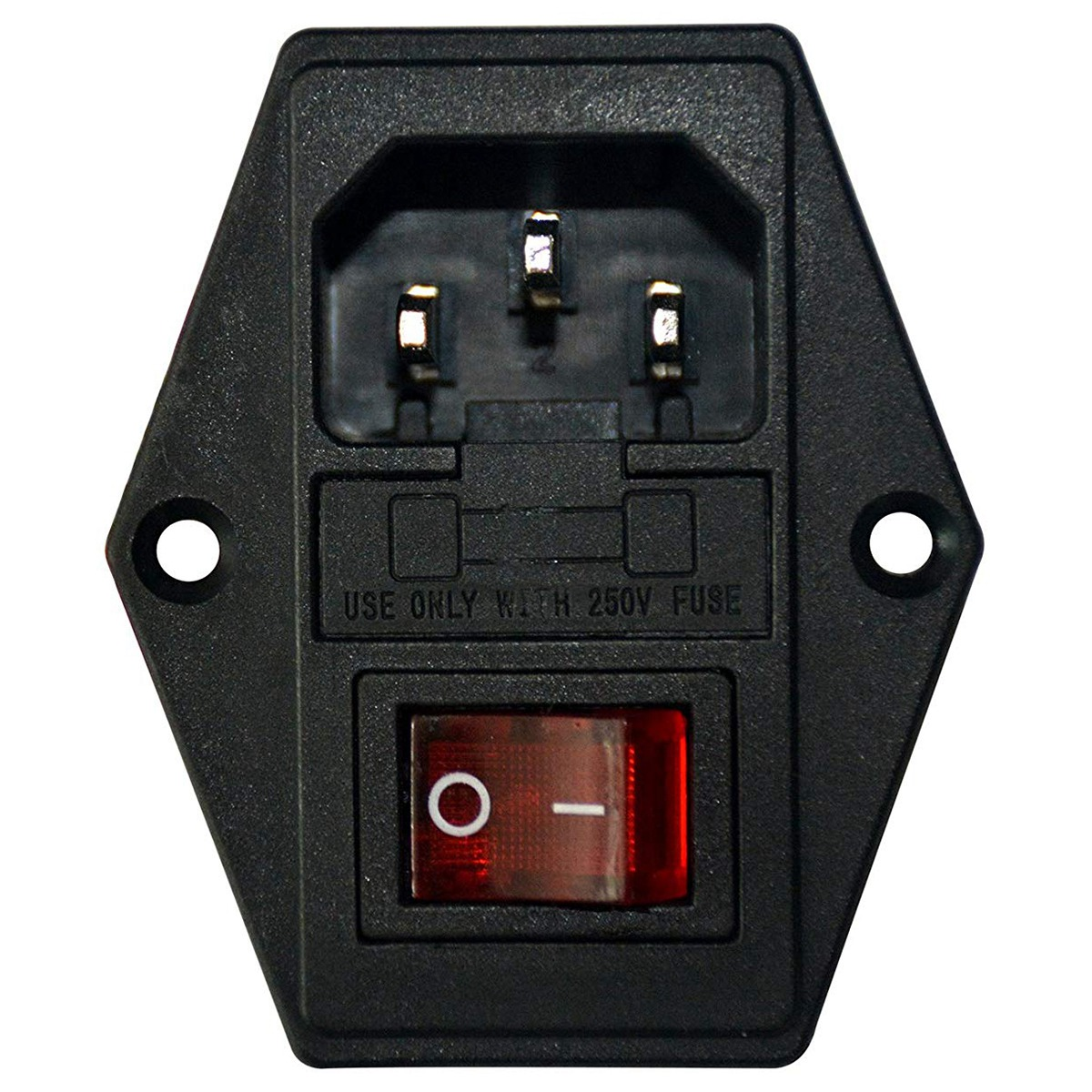 Inlet Male Power Socket With Fuse Rocker Switch, Fuse 3 Pin Iec320 250V 15A C14 Inlet Module For Computer And Home Appliance P-in Electrical Sockets from Home Improvement