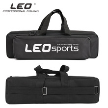 LEO Fishing Bag Black Wire Portable Bags Single Layer Fishin