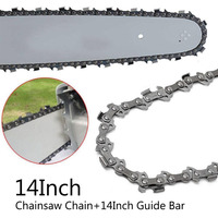 14 inch 3/8''LP 50 Drive Links Saw Chain+Guide Plate Replacement For Chainsaw Metal Chainsaw Saw Chain Blade Chainsaw Tool