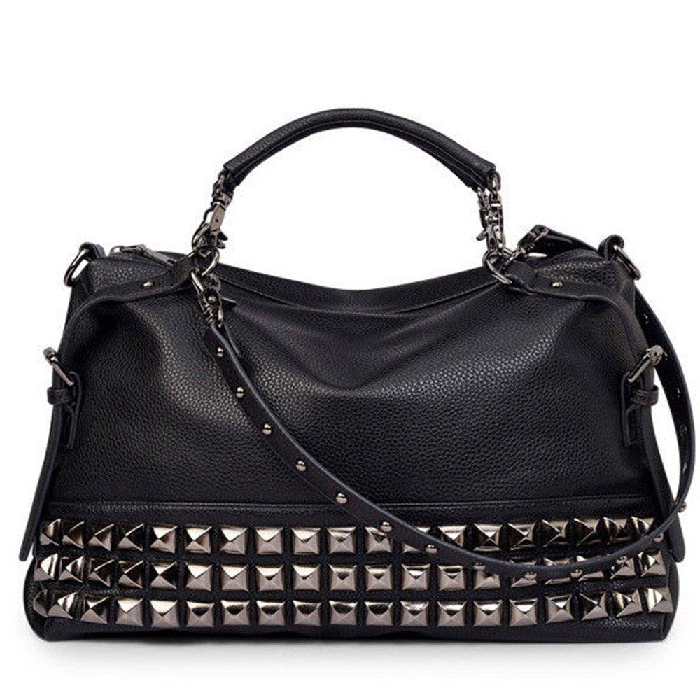 Ladies Small Shoulder Bag Faux Leather Novelty Rivets Fashion Shoulder Handbag