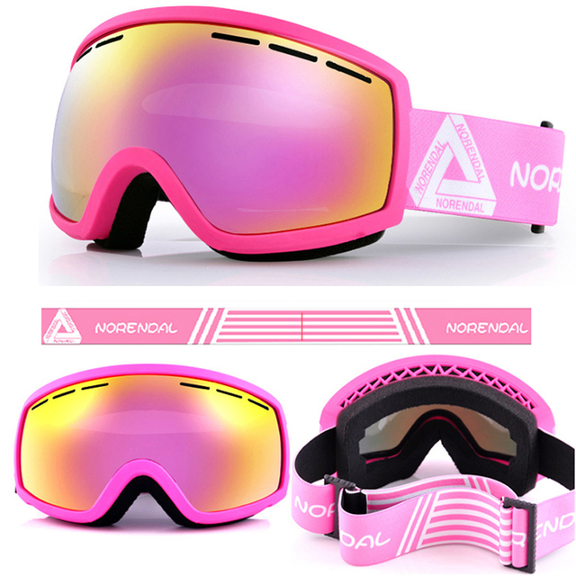 Women Ski Goggles anti-fog UV Mask Winter Spherical Mirror Glasses  Protection Snowboard airsoft Goggle d59667757