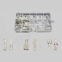 2.8mm/4.8mm/6.3mm 270pcs Female Terminal Connector Spade Crimp Terminals Connectors Sleeve Wire Wrap Insulated Kit цена и фото