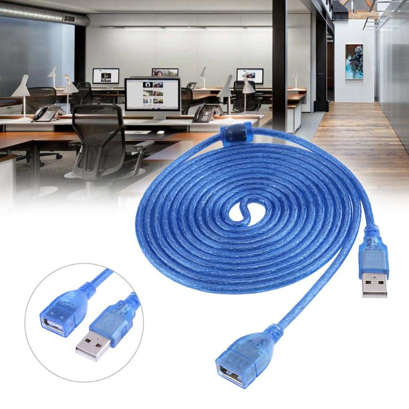 USB Cable 3 Meters Length USB2.0 Port Extender Cable With Shielding Magnet Ring Cooper Wired For PC Computer Cables