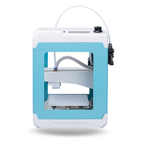 DIY 3D Printer Mini Size Assembled Birthday Gift Aluminium Frame 3D Printer Kit 110*110*125mm Printing Size 1.75mm Nozzle