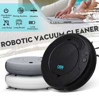 USB Charging Smart Robot Vacuum Cleaner Automatic Sweeping Dust Cleaner Robotic Sweeper Marble Wooden Floor Mopping Anti drop