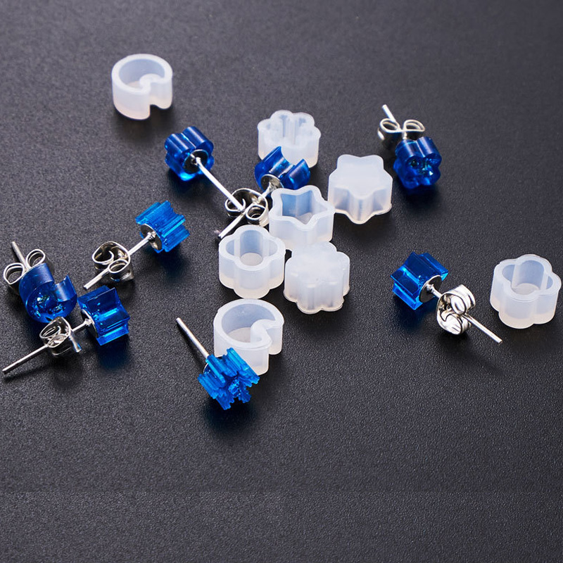 DIY Earring Mold Shaped Silicone Jewelry Mold Handcraft Epoxy Resin Tools For Making Jewelry Accessories
