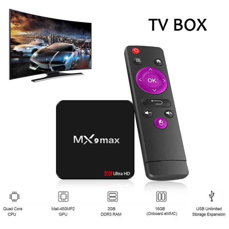 MX9 Max Network TV Set-top Box Android 8.1 OS RK3328 Quad-Core 64bit Cortex-A53 2G/16GB 4K TV BOX USB3.0 Smart TV BoxMX9 Max Network TV Set-top Box Android 8.1 OS RK3328 Quad-Core 64bit Cortex-A53 2G/16GB 4K TV BOX USB3.0 Smart TV Box