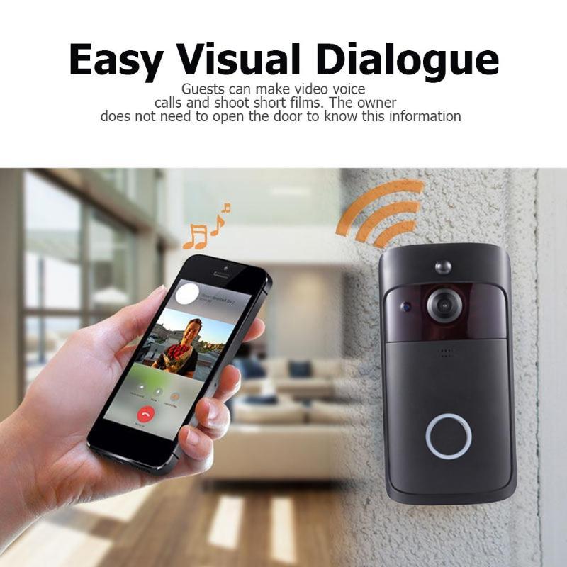 V5 Visual WiFi Smart Doorbell 2 Way Talk 720P Camera Night Vision Intercom 4