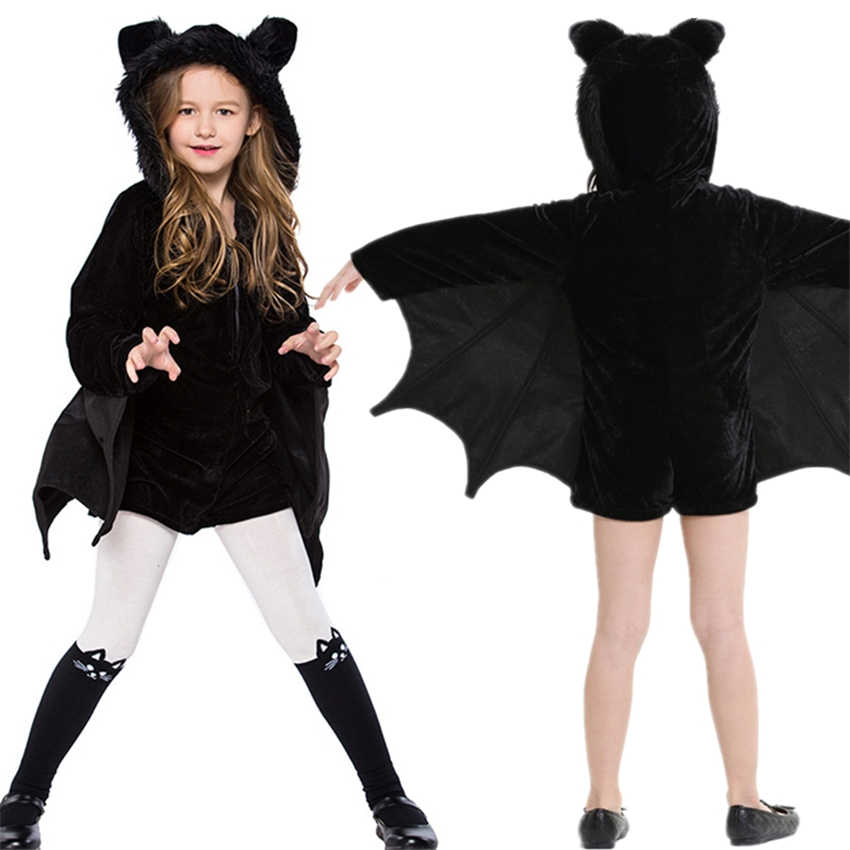 Halloween Costumes for Women Girls Vampire Cosplay Kids Bat Jumpsuit Family  Matching Clothes Mommy and Me bc8dfc4efd73
