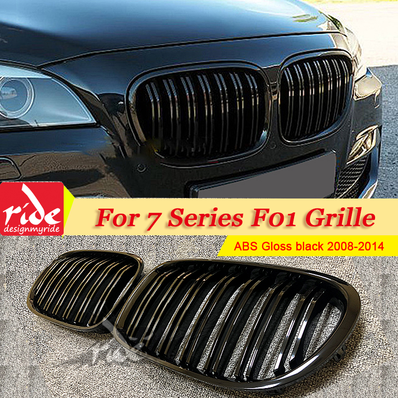 F01Grille ABS Gloss Black For F01 Front Grille M Style 7 Series 740i 745i 750i 760i