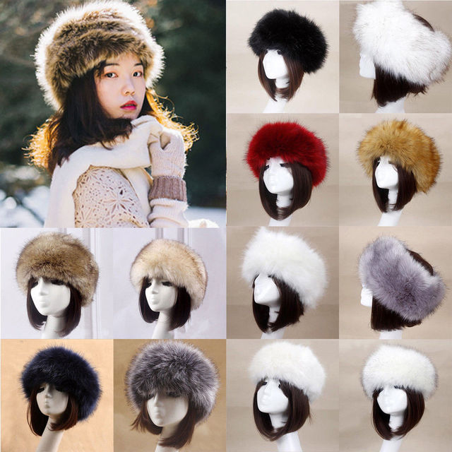 2019 Fashion Ladies Women Glamorous Faux Fur Russian Bomber Hats Cossack Hat  Winter Ear Warm Cap 6e689552ea0