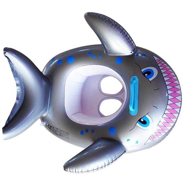 Cartoon Fish Pattern Kids Swimming Ring 0-4 Years Old Inflatable Pool 15Kg Float Home, School, etc Circle 2