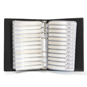 Nowy 8500 sztuk 0402 1% SMD SMT Chip rezystor asortyment zestaw 170 wartości próbki książki