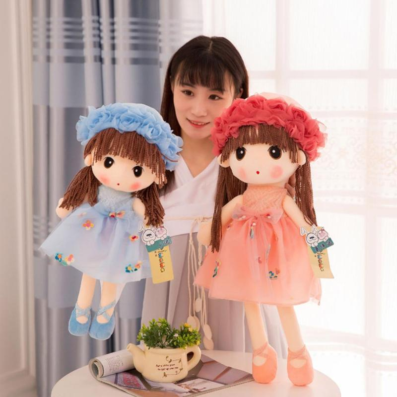 Doce bonito Meninas Modelo Bonecas de Pelúcia Brinquedos de Pelúcia Linda Boneca de Pano Decoração de Casamento Presente de Aniversário para Crianças