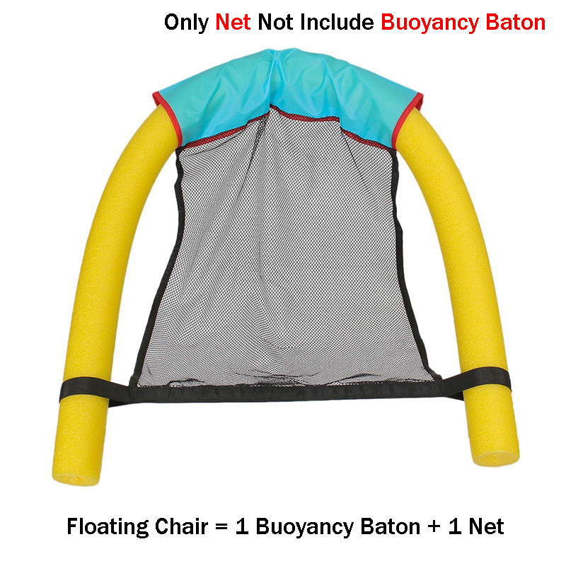 HOT Floating Noodle Sling Mesh Chair Net for Swimming Pool Seat Water Relaxation