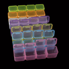 28 Slots Empty Storage Box Nail Art Equipment Rhinestone Tools Jewelry Beads Display Case Organizer Holder