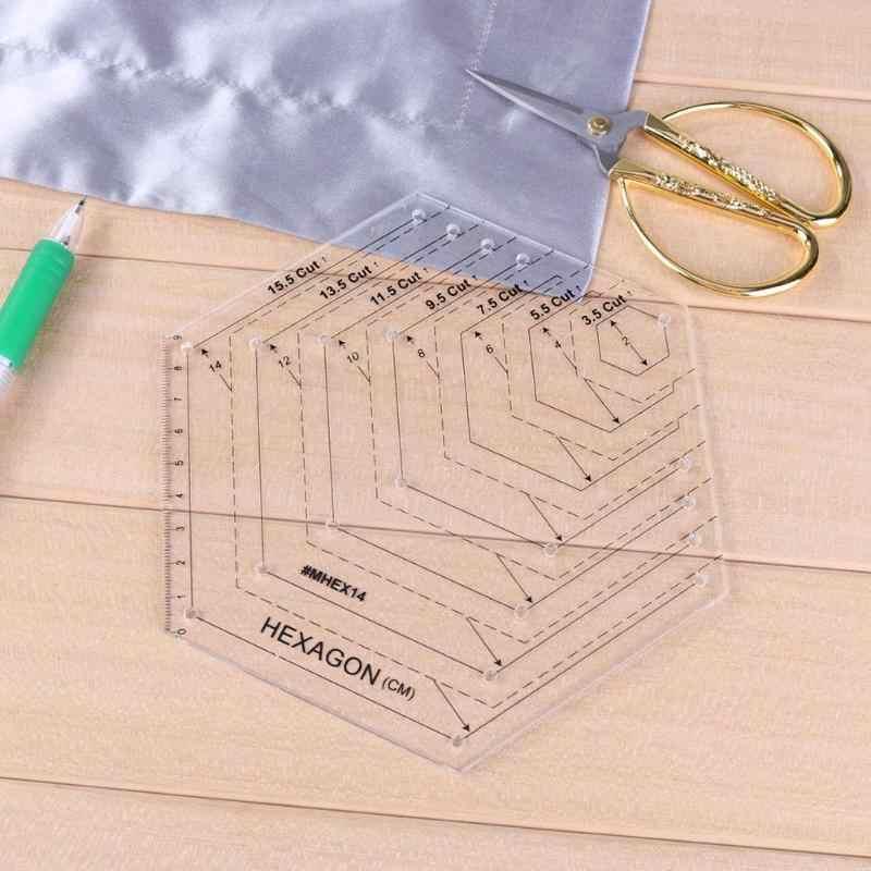 透明アクリルパッチワーククラフトキルティング定規切断定規 DIY ホーム縫製ルール描画ツール