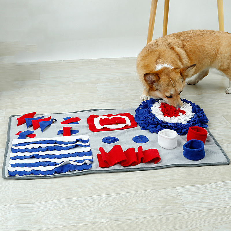 Dog Training Placemat: WHISM Pet Dog Cat Snuffle Blanket Smell Mats Feeding Food