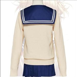 Image 2 - My Hero Academia Cosplay Costume Boku No Hero Academia Himiko Toga Women Sailor JK Uniform Mini Pleated Skirt Suit Cardigans Set