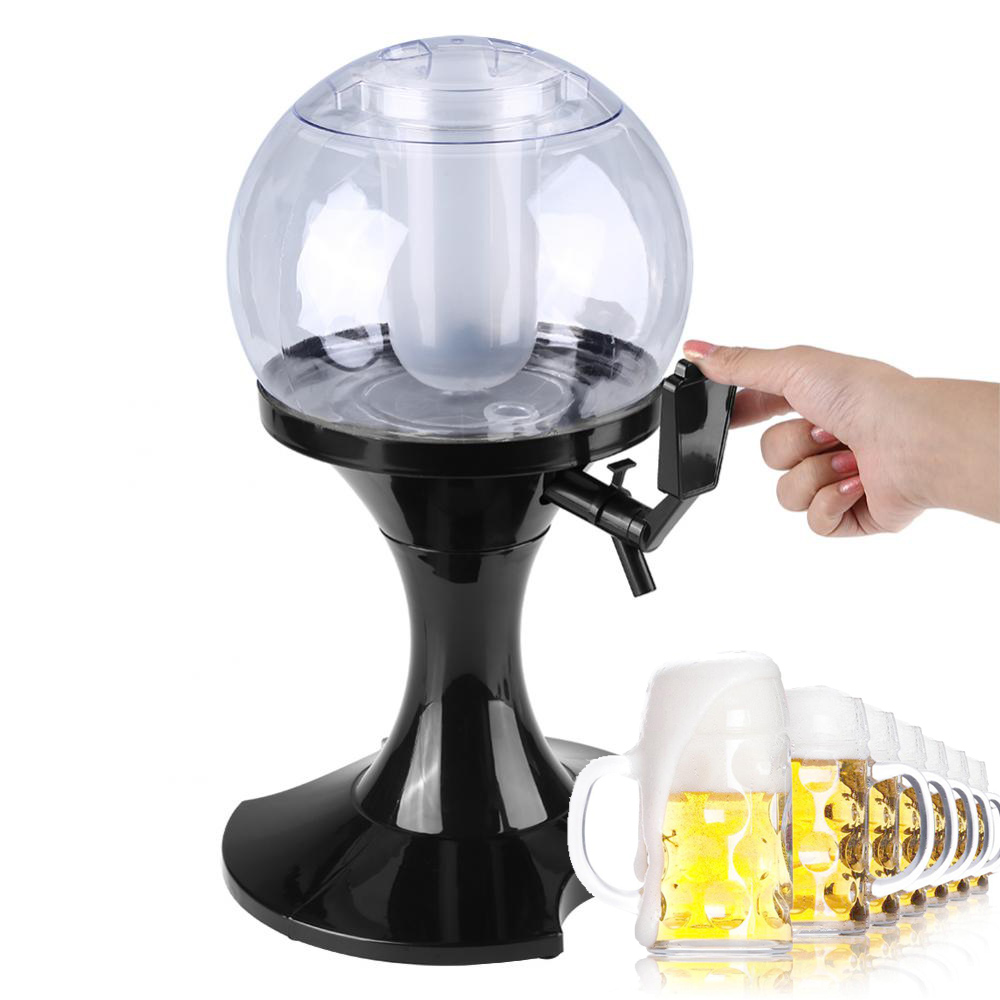 3.5L Beer Dispenser Machine Globe Beverage Liquor Soda Alcohol Wine Drink Bottle Dispenser Party Barware Bar Accessories Tool123