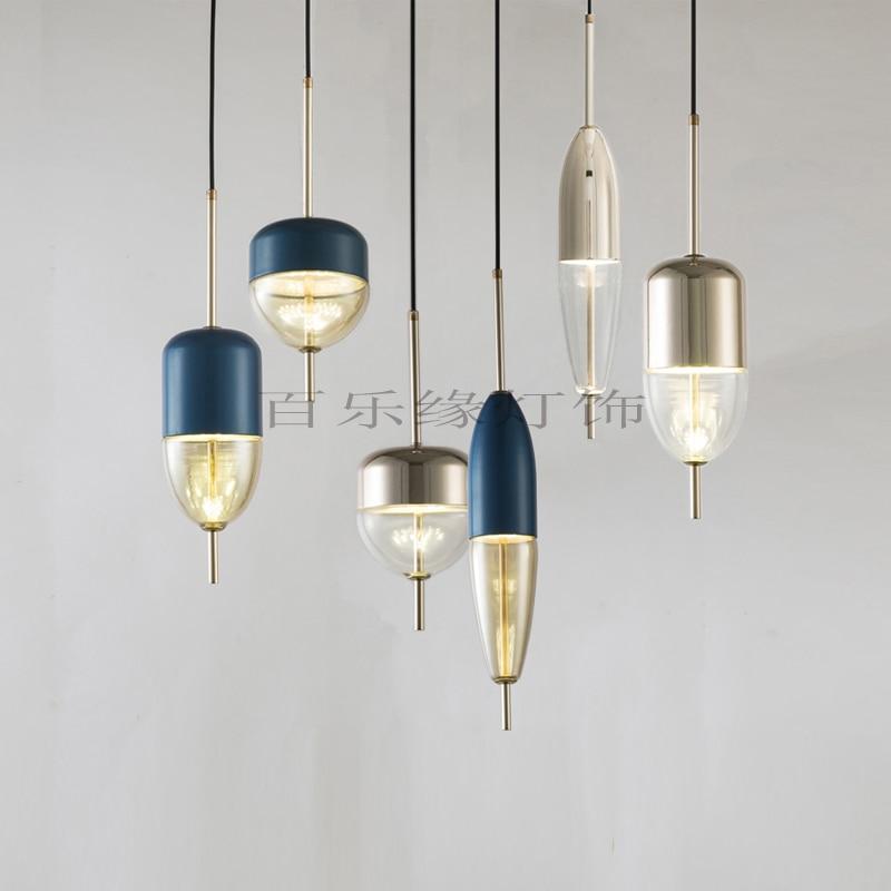 Modern Pendant Lights Black Glass Ball Pendant Lamp Long Line Hanging Lamp For Kitchen Living Room Nordic Globe Light Fixtures Pendant Lights     - title=