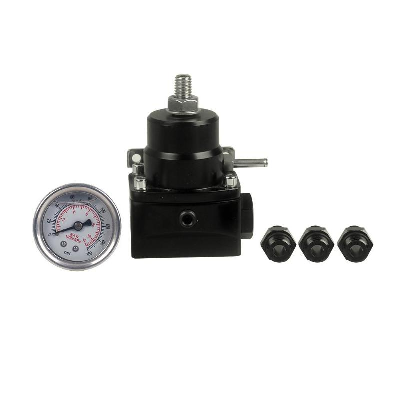 VODOOL PSI Adjustable Fuel Pressure Regulator  6AN Fitting Universal 1/8 NPT Port with Boost Gauge Car Oil Pressure Regulator-in Oil Pressure Regulator from Automobiles & Motorcycles on AliExpress - 11.11_Double 11_Singles' Day 1