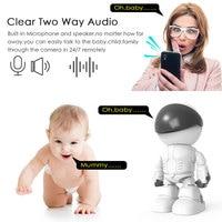 Baby Monitor 1080P HD Wireless Smart Baby Camera WiFi IP ROBOT Camera Audio Video Record Surveillance Home Security Camera