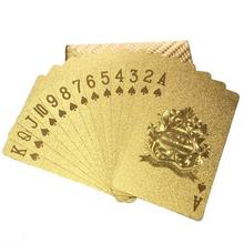 1 Box Of Gold Foil Poker Plastic Waterproof Board Game Magic Poker Great Party Guest Game After Part