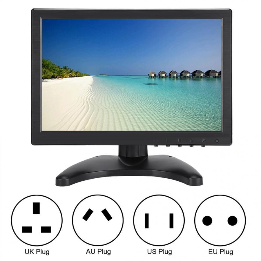 Commutateur de moniteur lcd 10.1in 1920*1200 16:10 LED full hd écran LCD affichage HDMI/VGA/AV/BNC entrée carte contrôleur de moniteur lcd