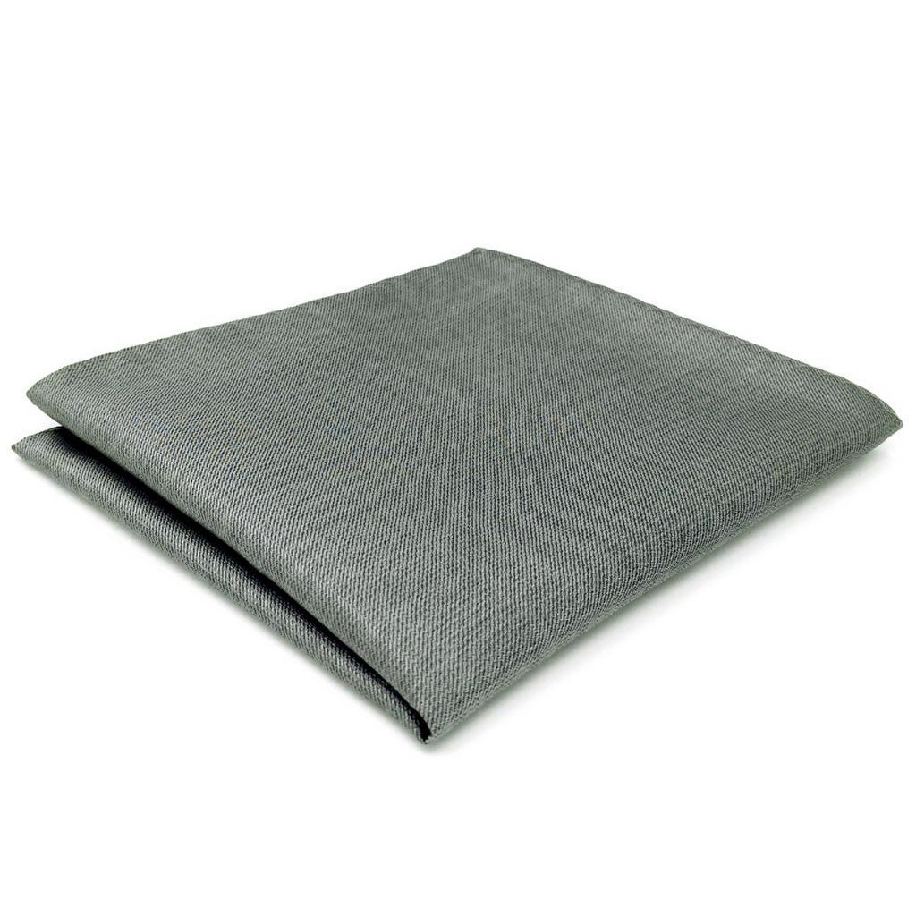 CH20 Gray Solid Silk Mens Pocket Square Fashion Wedding Acceossories Hanky Brand New 12.6