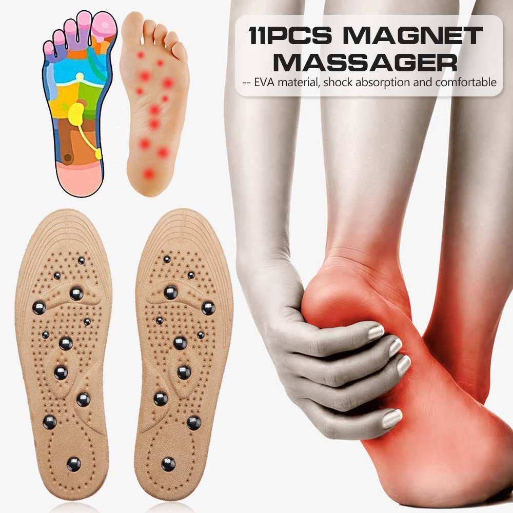 1 paar Magnetische Therapie Vrouwen Mannen Suede Binnenzool Anti Vermoeidheid Inlegzolen Unisex Verstelbare Insert Pad