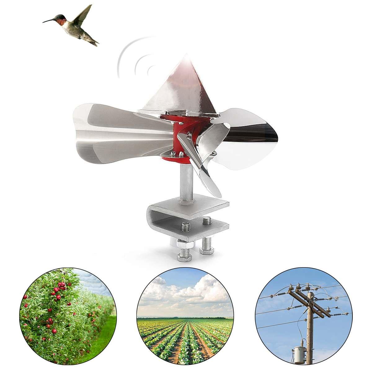 Wind Power Bird Scarer 360 Degree Reflective Birds Repellents Decoy Outdoor Stainless Steel Orchard Garden Pest Control