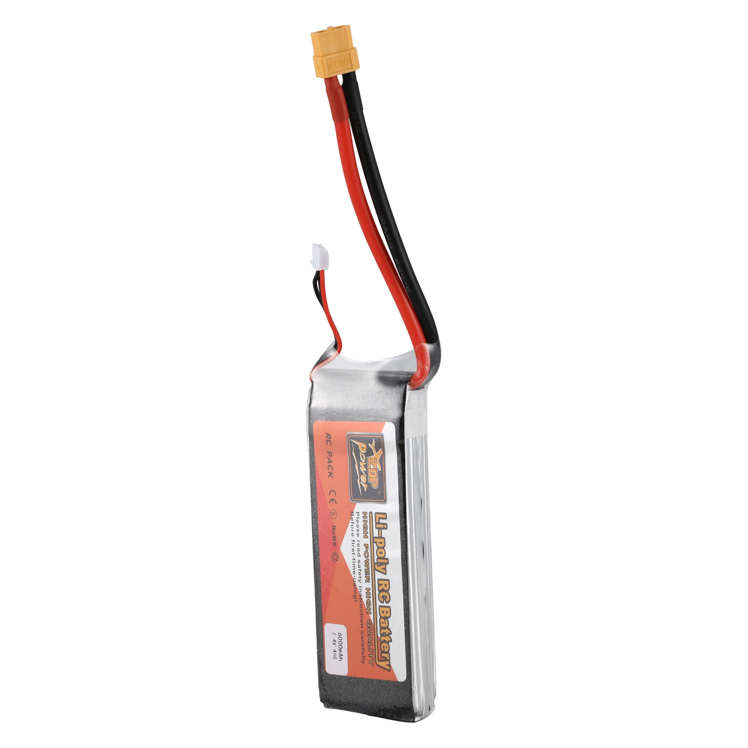 ZOP POWER 7.4V <font><b>6000mah</b></font> 45C <font><b>2S</b></font> <font><b>Lipo</b></font> Battery XT60 Plug Connector For Rc Racing Car Camera Drones FPV Quadcopter Accs Spare Parts image