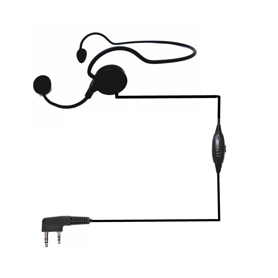 moch universal 2pin finger ptt vox earpiece soft microphone headset for kenwood baofeng uv 5r bf