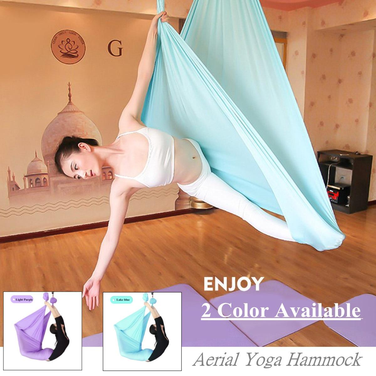 Anti-Gravité Inversion hamac de Yoga Sling Aérienne Pilates Balançoire Trapèze De Yoga Ceintures Gym Fitness Corps matériel de musculatation 9.2x2.8 m