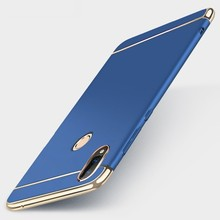 Case For Xiaomi Redmi Note 5 Pro Cover Luxury Royal Gold Metal Plating TPU Hard Removable 3 in 1