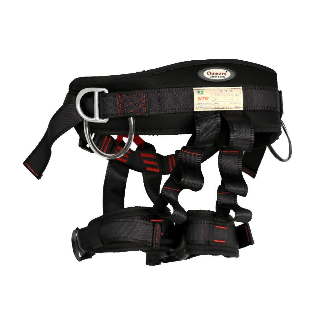 NTR 22kN Rock Climbing Harness Falling Protection Safety Belt Adjustable Security Seat Belt Rappelling Equipment Tool