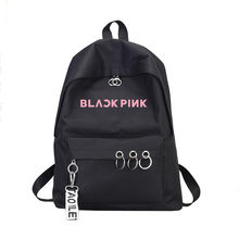 ateez stray kids Blackpink Sac A Dos Backpack Back pack Exo Got7 Women Monsta X Twice Wanna One Canvas School Travel Bag Femme(China)